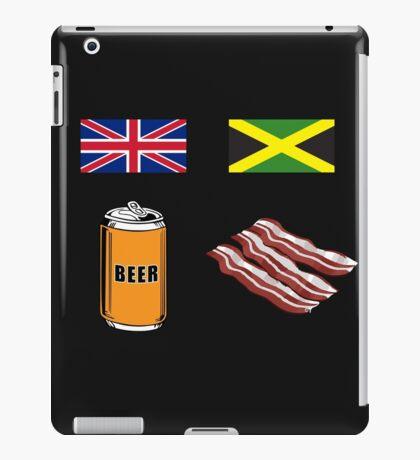 """English """"Beer-Can"""" = Jamaican """"Bacon"""" iPad Case/Skin"""