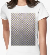 Colour Halftone Women's Fitted T-Shirt