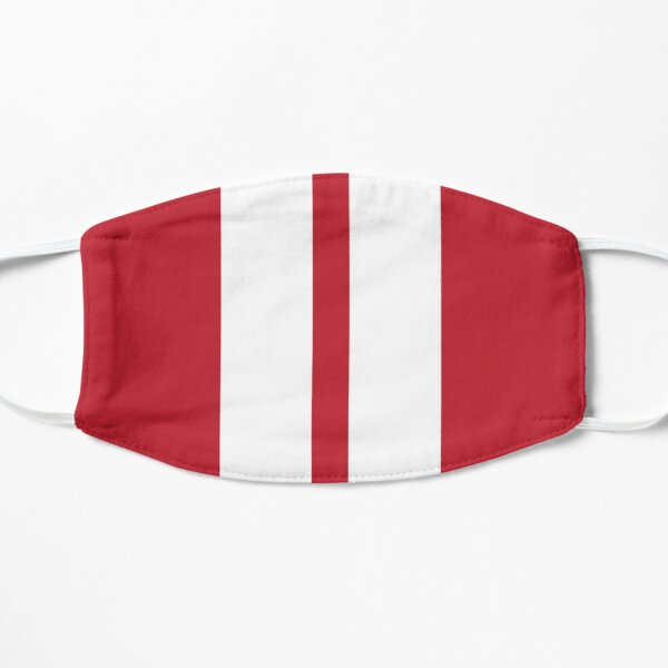 Red and White Racing Stripes Flat Mask