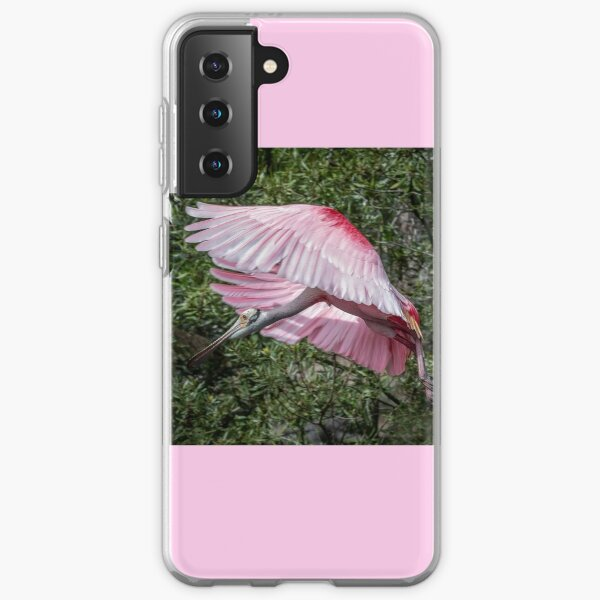 Roseate Spoonbill looking for permission to land. Samsung Galaxy Soft Case