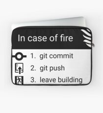 In case of fire Laptop Sleeve