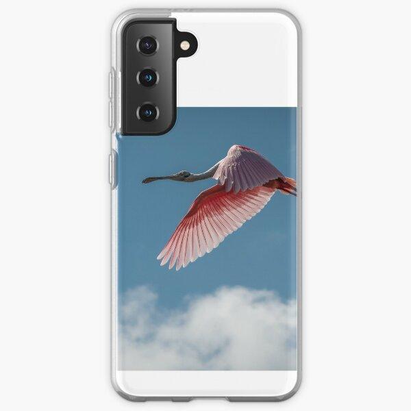 Roseate Spoonbill cruising the Florida skies. Samsung Galaxy Soft Case