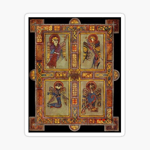 Page de manuscrit illustré de l'évangéliste Sticker
