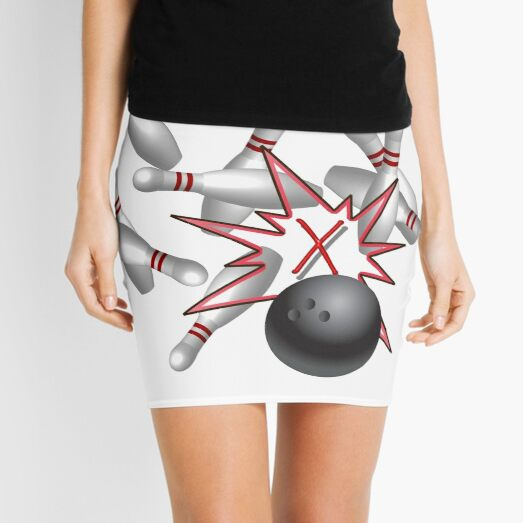 Bowling a strike  Mini Skirt
