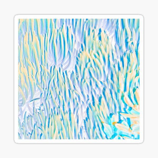 coral confetti - aqua Sticker