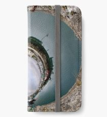 Hurry Head Harbour, Carnlough, County Antrim - Sky In iPhone Wallet/Case/Skin