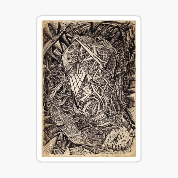 Diffracted (cavern dweller) by Brian Benson Sticker