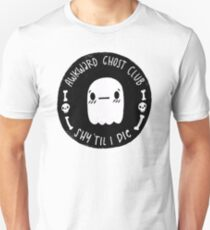 Awkward Ghost Club Black T-Shirt