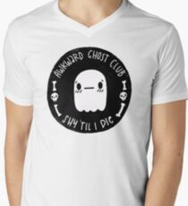 Awkward Ghost Club Black Men's V-Neck T-Shirt