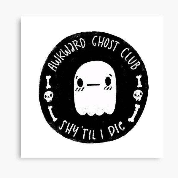 Awkward Ghost Club Black Canvas Print