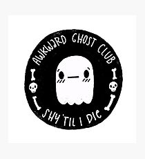 Awkward Ghost Club Black Photographic Print