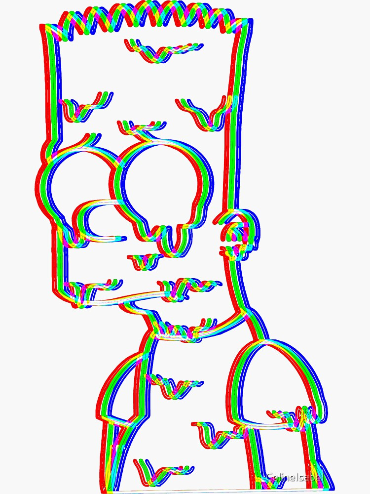 Trippy Bart by CelineIsabel