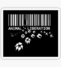 Animal Liberation - through a price tag Sticker