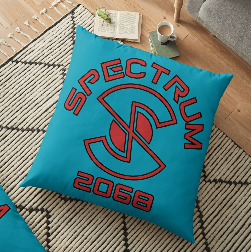 Captain Scarlet and the Mysterons Spectrum Logo Floor Pillow
