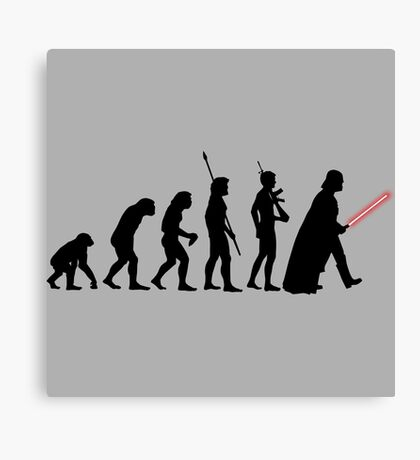 It's Evolution Baby! Canvas Print