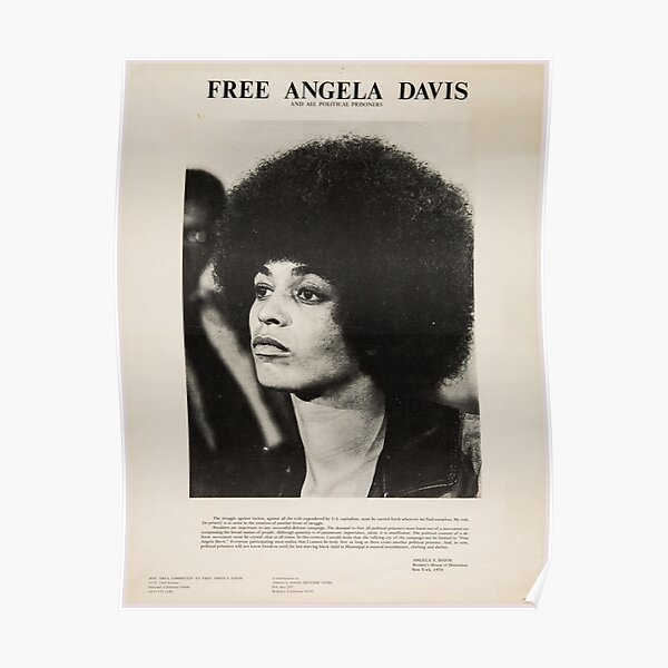 Free Angela Davis - Black Panthers - Vintage Poster Poster