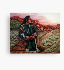 Listening To The Spirits, The Painting Canvas Print