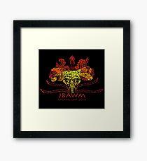 JBAWM Red Flower Framed Print