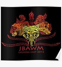JBAWM Red Flower Poster