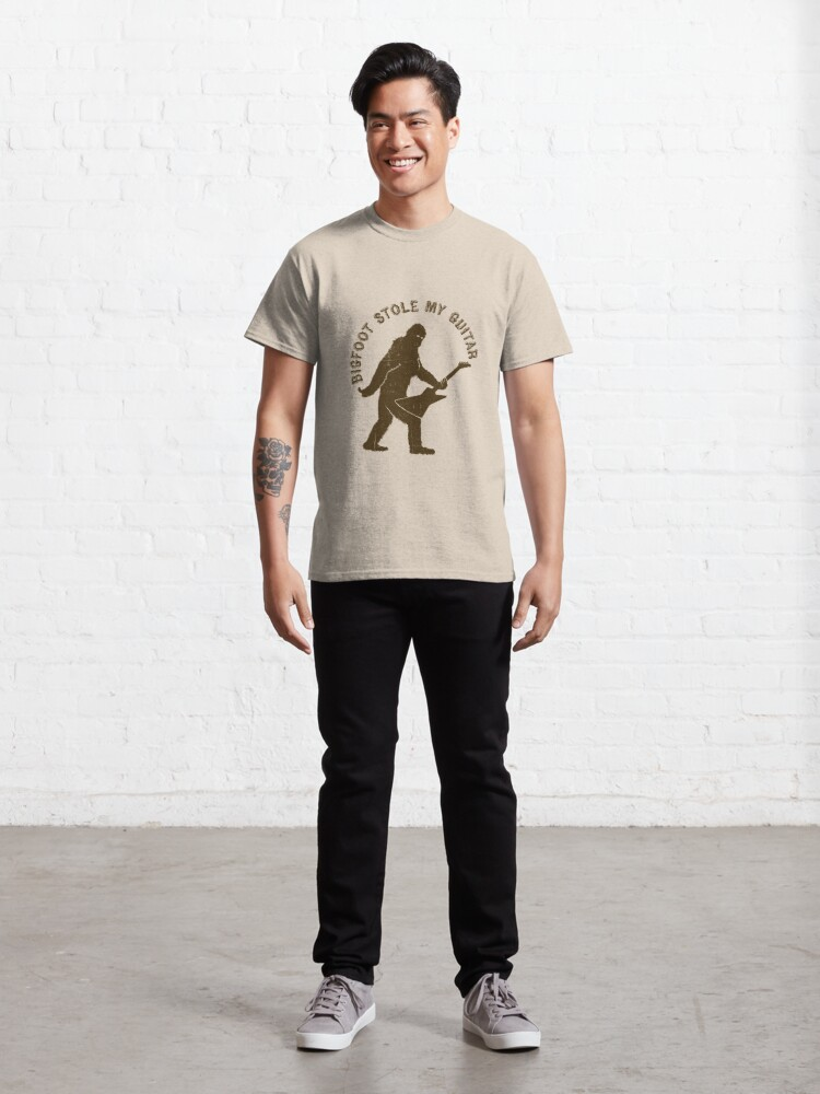 Alternate view of Bigfoot Stole My Guitar Classic T-Shirt