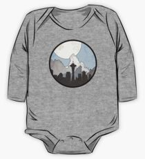Map to the Pacific Northwest - Round One Piece - Long Sleeve