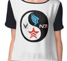 Yin Yang Mass Effect Chiffon Top