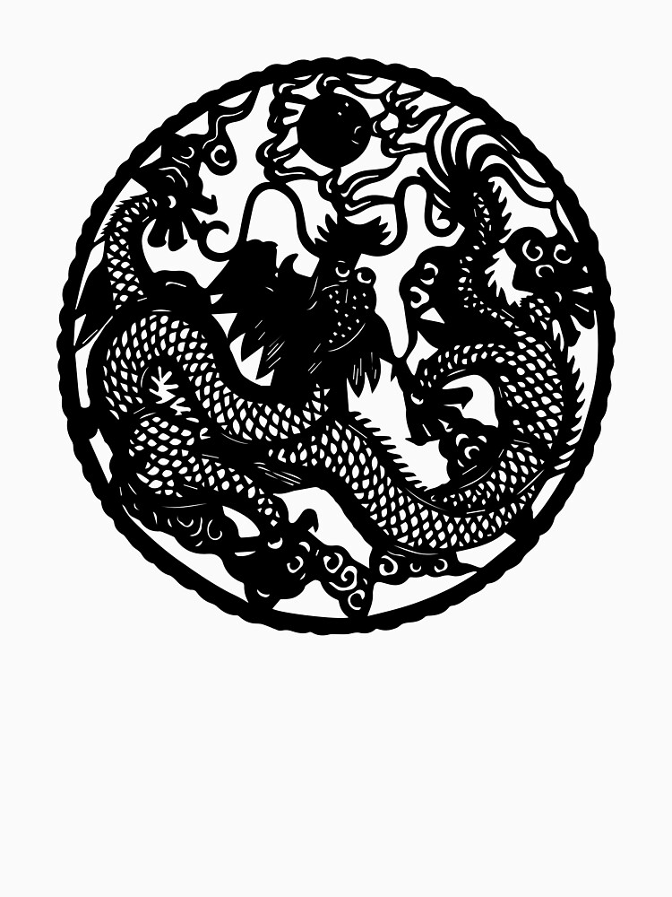 Chinese Retro Paper Cut Dragon by KaijuCats