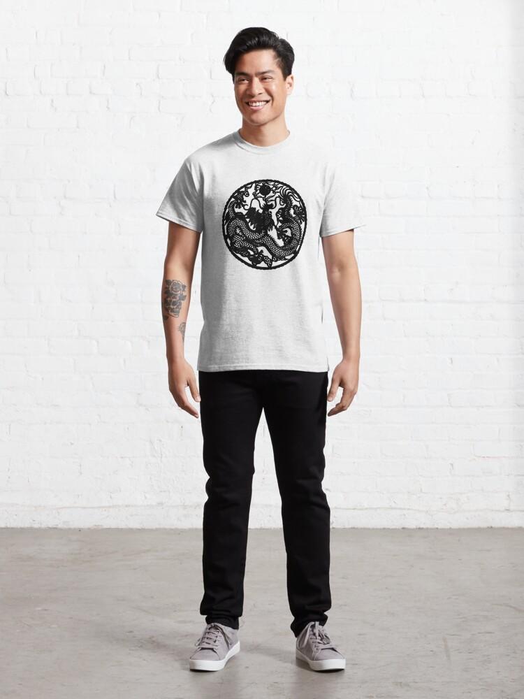 Alternate view of Chinese Retro Paper Cut Dragon Classic T-Shirt