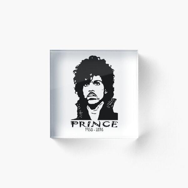 Prince 1958 - 2016 Black  Acrylic Block