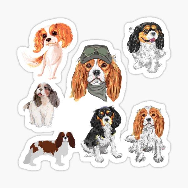 Cavalier Spaniel Sticker pack Sticker