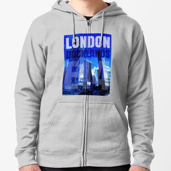London Docklands Zipped Hoodie