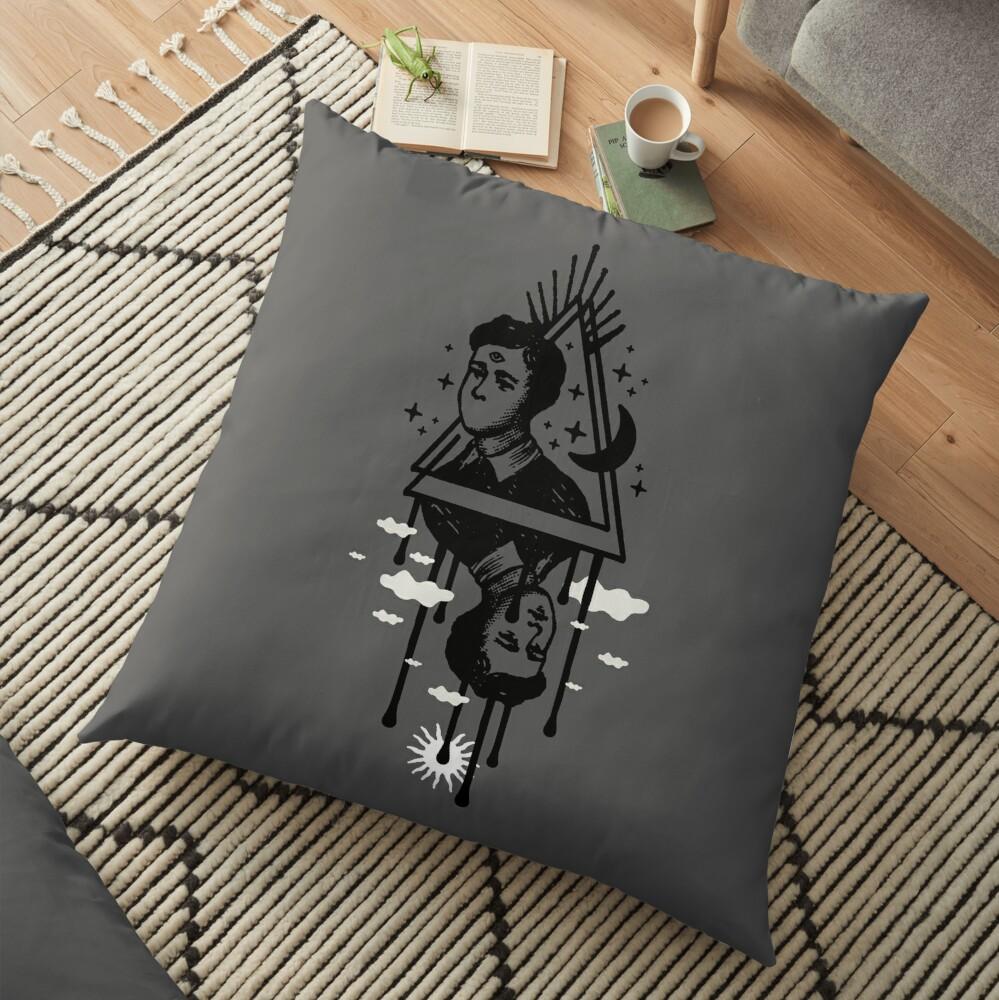 Wander the Night Floor Pillow