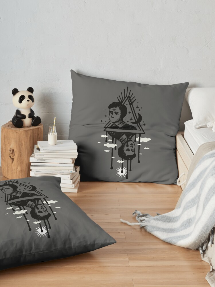 Alternate view of Wander the Night Floor Pillow