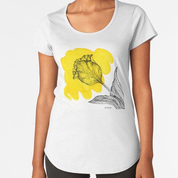 Yellow Splash Tulip Premium Scoop T-Shirt