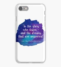 A Court of Mist and Fury - Watercolour Quote iPhone Case/Skin