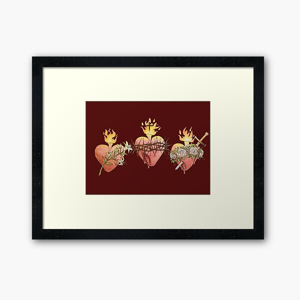 Hearts of the Holy Family Framed Art Print