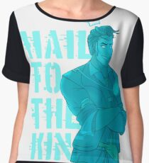 Hologram!Handsome Jack: Hail To The King Women's Chiffon Top