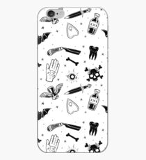 A Few of My Macabre Things (on white) iPhone Case