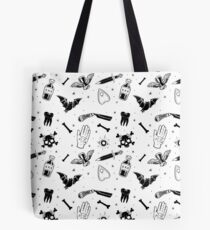 A Few of My Macabre Things (on white) Tote Bag