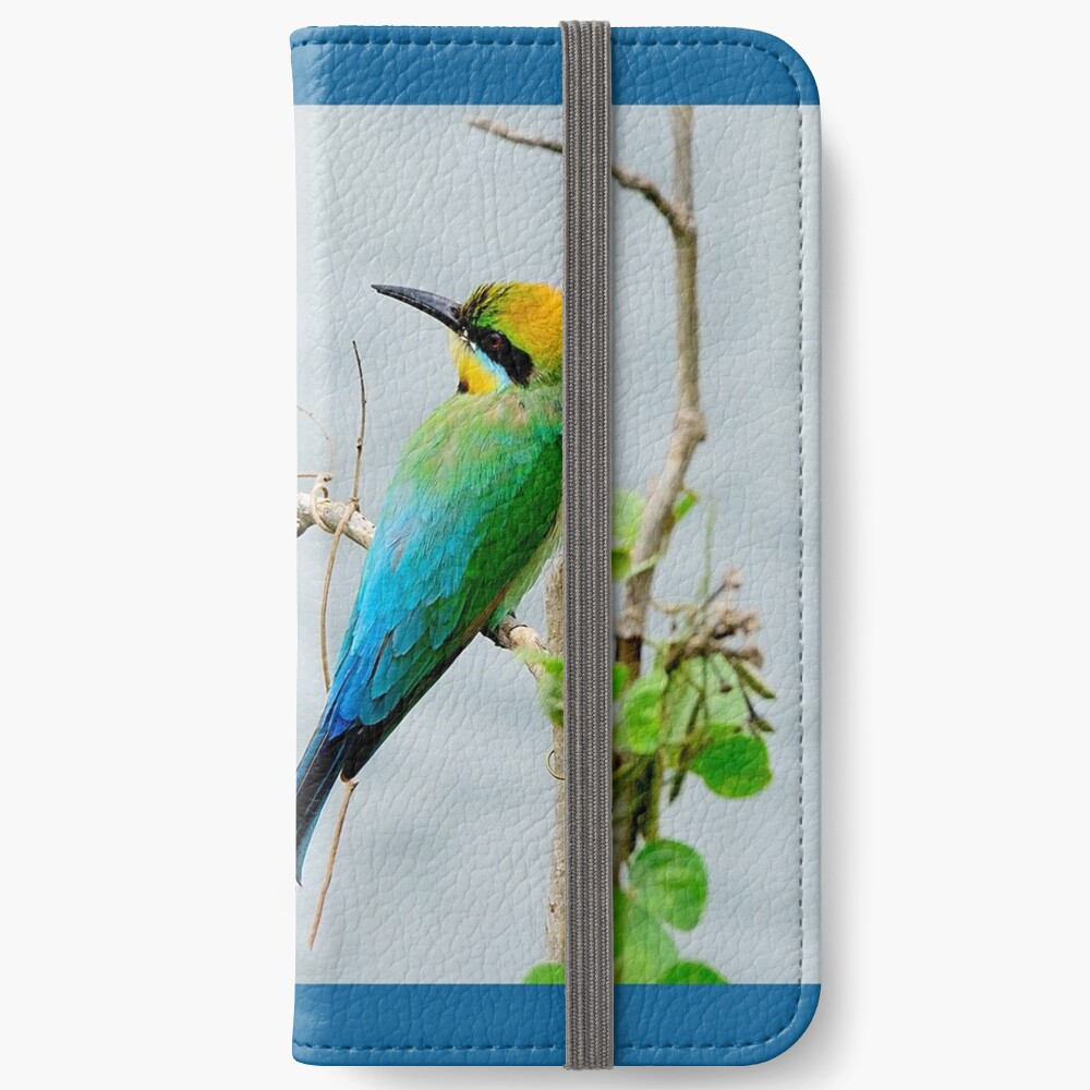 Rainbow Bee-eater 'Patiently Waiting' iPhone Wallet