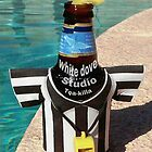 TEA-KILLA BEER BY THE POOL by WhiteDove Studio kj gordon