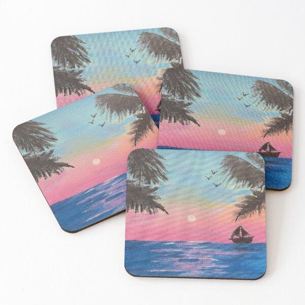 Sunset Sailing  Coasters (Set of 4)