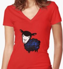 Black Sheep Nebula Women's Fitted V-Neck T-Shirt