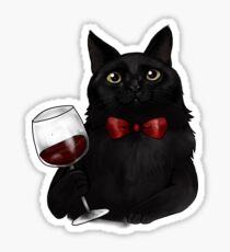 Wine Cat Sticker