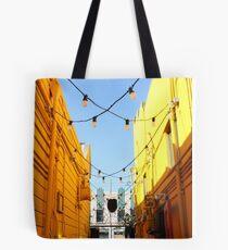 Yellow Walls, Blue Sky Tote Bag