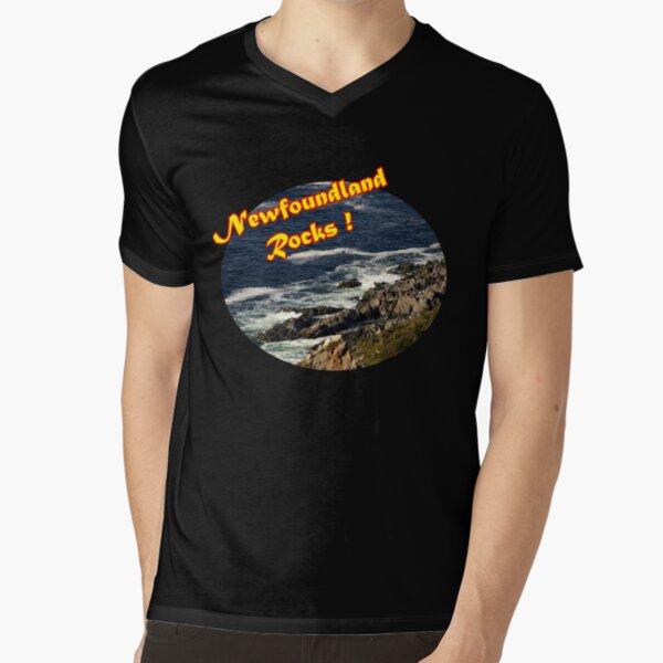 Newfoundland Rocks V-Neck T-Shirt