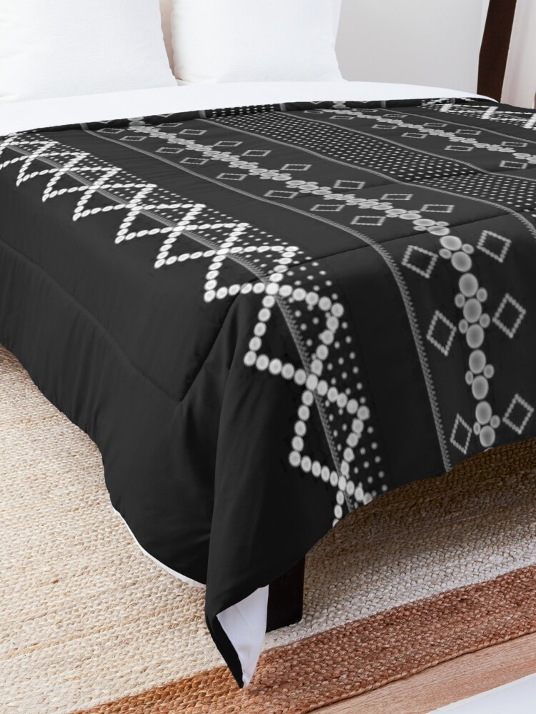 Alternate view of LaFara Stitches Decorations Comforter