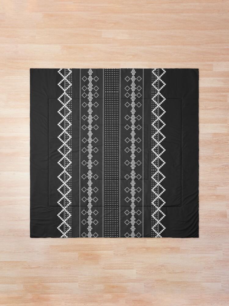 Alternate view of LaFara Stitches Decorations Comforter