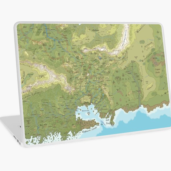 Dragon Pass and Prax - from the Argan Argar Atlas Laptop Skin
