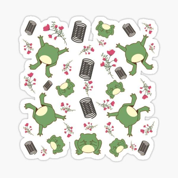 Green Spring Frog Sticker